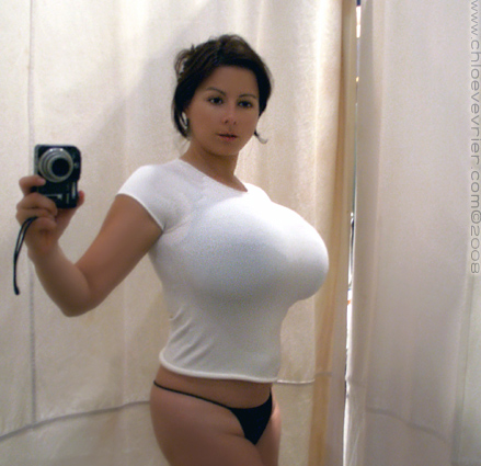Big breasts tight shirt